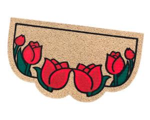 Zerbino ingresso interno esterno antiscivolo asciugapassi assorbente tulipani