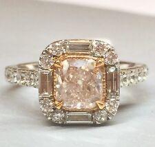 2.30 CARAT GIA CERTIFIED NATURAL LIGHT PINKISH BROWN DIAMOND ENGAGEMENT RING 18K