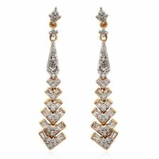 Diamond Earrings in 14K Gold Overlay Sterling Silver 0.500 Ct.