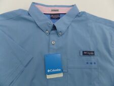 NWT $65 COLUMBIA PFG Harborside Mens Woven s/s button up shirt XL