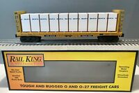 MTH RailKing O Scale Trailer Train Bulkhead flat car w/ lumber load - 30-76523