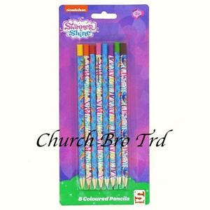 JOB LOT 48x PACKS SHIMMER & SHINE -- 8 COLOURING PENCILS IN EACH PACK