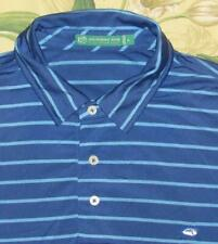 Mens SOUTHERN TIDE Club Blue Performance Short Sleeve Polo Shirt Large L