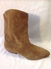 Aldo Brown Mid Calf Suede Boots Size 6