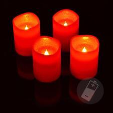 4er Set LED Adventskerzen rot mit Fernbedienung Kerzenset Weihnachten