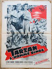 Affiche de cinéma 60 X 80 : TARZAN L'HOMME SINGE de JOSEPH NEWMAN 1959