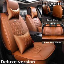 Brown Luxury 5-Seat Car Leather Seat Covers For Hyundai Elantra ix35 Kia Optima