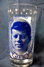 JFK John F Kennedy 1917-1963 Commemorative President Promo Glass PT 109, Ask Not