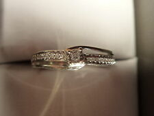 10k Solid Gold Diamond Ring. 0.18ct Size N-O 2.44g
