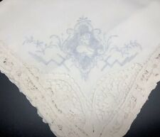 "Vtg 21"" Dinner Napkins; Fancy Handmade Set 11 w/ Embroidery Needle Lace (Rf931)"