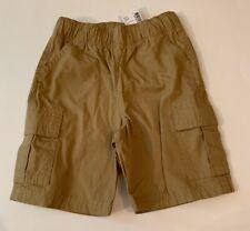 The Childrens Place Boys Shorts Size 3T Tan Khaki Pull On Uniform Cargo NEW