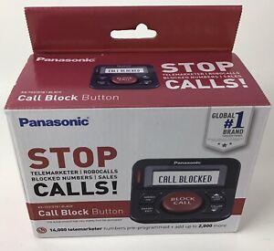 Panasonic Robo Call  Telemarketer Block Button with Bilingual Talking Caller ID