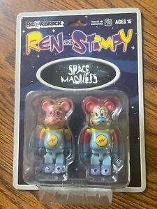 Ren And Stimpy Bearbrick 100%  Space Madness Set Be@rbrick Medicom Rare Limited