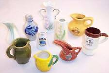 10 Piece Lot Collection of Miniature Pitchers, Vases and Mug, Souvenirs