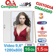 TABLET PC 10 POLLICI VIDEO IPS QUAD CORE  ROM 16GB 3G INTEGRATO CUSTODIA OMAGGIO