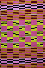 African Kente Print Ethnic Ghanian Fabric Cloth Bright Colors per Yard