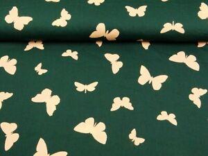 0,50 m Baumwollstoff 100 % Schmetterling beidseitig bedruckt