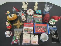 20+ Christmas Items - Bells, Candle Holders, Lenox Snowman, Ornaments, Japan