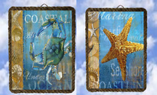 Tropical Beach 4/27 Wall Starfish Bluecrab Wall Décor Coastal lalarry Rope frame