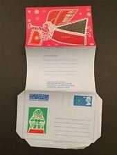 GB UK AIR LETTER AEROGRAMME 1960ies WEIHNACHTEN CHRISTMAS X-MAS NOEL MNH h3417