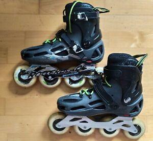 Size 10/44 used Rollerblade inline skates black 90mm wheels