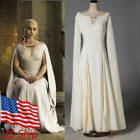 Cosplay Daenerys Targaryen Qarth Dress Game Of Thrones Halloween Costume Props