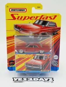 2020 MATCHBOX SUPERFAST : 1964 Pontiac Grand Prix : New Sealed : GNY10