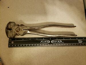 Vtg 1907 Crescent Tool Co Fence Staple Puller Pliers Jamestown NY USA