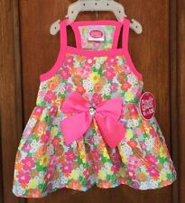 """Glamour to the Bone """"DRESS """" Multi-Color Flowers w/Pink Trim an Bow Size X-Small"""