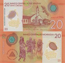 Nicaragua 20 Córdobas (2015) - Polymer Plastic/p210 UNC