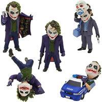 5 Pcs/set  Batman The Dark Knight The Joker PVC Figure Collectible Model Toy