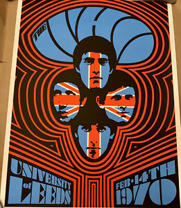 The Who 1970 Leeds #2 Ames Bros Glow in Dark Artist Proof Limited Edition XX/60