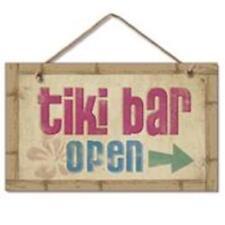 Tiki Bar Open - Wood Sign - 9x6