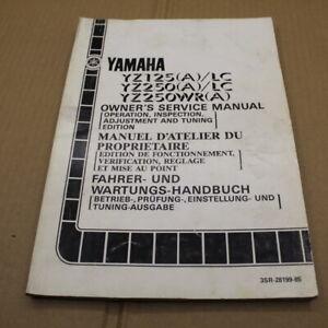 MANUEL REVUE D ATELIER ENTRETIEN YAMAHA YZ 125 250 WR A LC 1990 SERVICE MANUAL