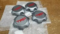 Toyota TRD Matte Gray Center Cap Set Tacoma 4Runner FJ Cruiser PTR20-35111-GR