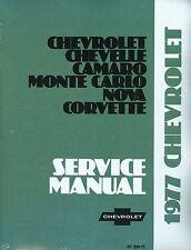 1977  CORVETTE/CAMARO/SS  SHOP MANUAL