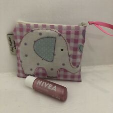 Elephants Coin purse,card wallet,small zipped Pouch,Pink ElephantS Oilcloth