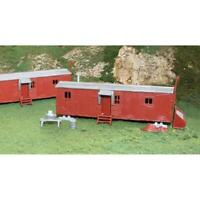 Bachmann #45175 HO scale Plasticville U.S.A. Railroad Work Sheds (2) kit