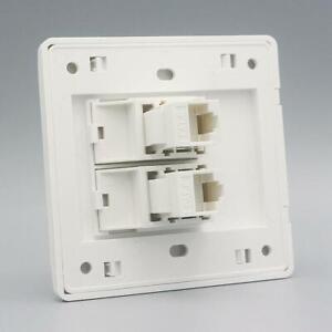 Wall Socket Plate One Port Network-Ethernet LAN CAT6 Outlet Panel Faceplate RJ45