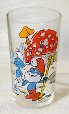 RARE Vintage Water Cup ✱ SMURFS SCHLUMPFE SCHTROUMPFS ✱ Collection Glass 1976 #1