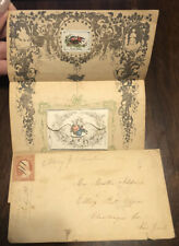 Mail Cover With Decorative Floral Blank Letter