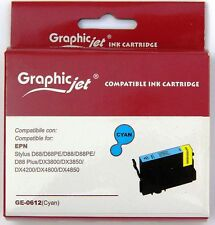 Cartuccia Compatibile GRAPHIC JET per Epson T0612 colore CIANO inchiostro 13 ml