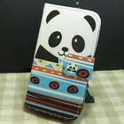 1x Candy Cat Panda OWL Wallet Kickstand Flip case cover for Samsung Galaxy Phone