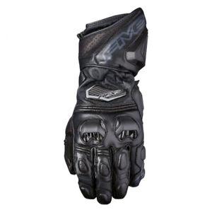 Five5 Gloves RFX3 Goatskin Leather Motorcycle Glove Black