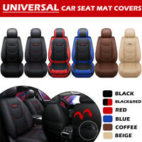Universal Full Car Seat Covers Mat Pad Breathable Cushion Pad Set PU Leather f