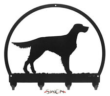 Swen Products Gordon English Setter Dog Black Metal Key Chain Holder Hanger