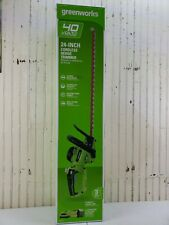 Greenworks Hedge Trimmer Grass Garden Lawn 40V 24 Inch Cutting 2.5Ah Battery New