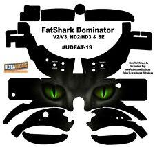 FatShark Dominator V2 V3 HD2 HD3 Skin Wrap Decal Fat Shark Green Cat Eyes