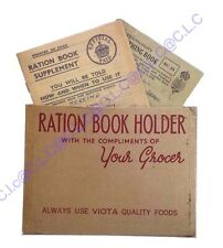 Museum Quality WW2 1940's Replica Ration Book with Holder & Clothing Book Set