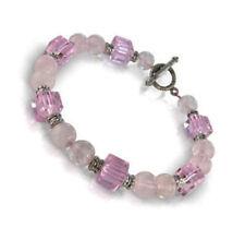 LADIES ROSE QUARTZ GEMSTONE BRACELET Crystal Jewellery Gift